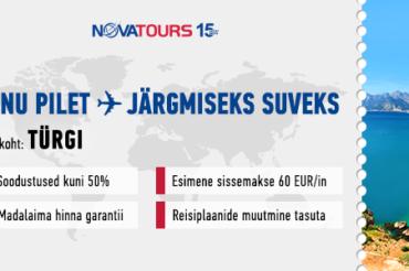 Anname teada, et SUVI 2020 TÜRGI reiside müük on alanud!